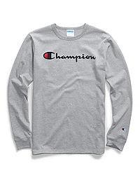 Champion Life® Men's Long-Sleeve Tee, Ink  Script Logo