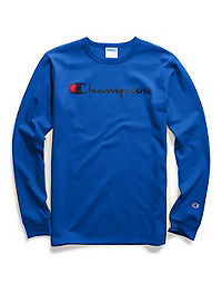 Champion Life® Men's Long-Sleeve Tee, Ink  Script Logo