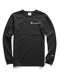 Champion Life® Men's Long-Sleeve Tee, Embroidered Logo