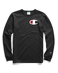 Champion Life® Men's Long-Sleeve Tee, Big C Applique