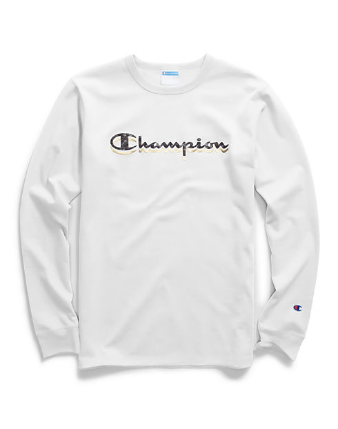 Champion Life® Men's Long-Sleeve Tee, Camo & Gold Script Logo