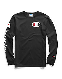 d43490823 Champion Life® Men's Long-Sleeve Tee, Big C Logo
