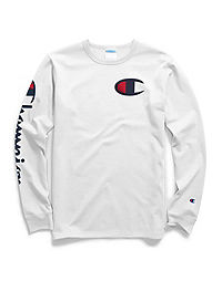 Champion Life® Men's Heritage Long-Sleeve Tee, Big C & Vertical Logo