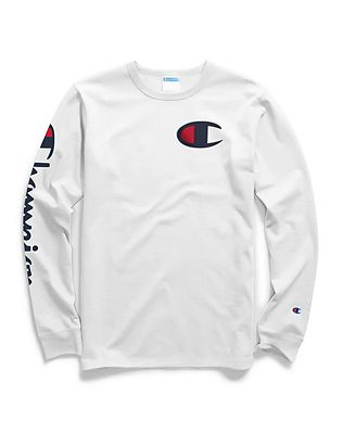 1f145036 Shoptagr | Champion Life® Men's Long Sleeve Tee, Big C Logo by Champion