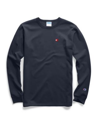 4f1ae6ac3aed Champion Champion Life® Men's Heritage Long-Sleeve Tee, Oversized Block  Logo (Back)