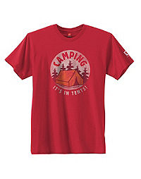 Hanes Camping It's In Tents National Park Graphic Tee