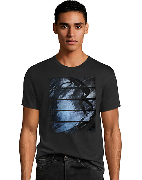 Men's Surfer Stripes Graphic Tee