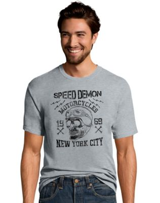 Hanes Men's Speed Demon Motorcycles Graphic Tee