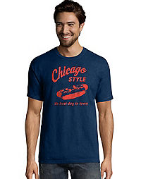 Hanes Men's Chicago Style Graphic Tee