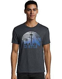 Hanes Men's Space Seattle Graphic Tee