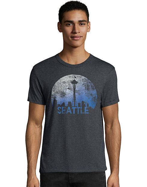 Hanes Men's Space Seattle Graphic Tee