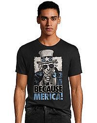 Hanes Men's Because Merica Graphic Tee