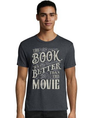 Hanes Men's The Book Was Better Than The Movie Graphic Tee