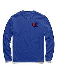 Champion Men's Classic Jersey Long-Sleeve Tee, Big C Logo