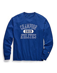 Champion Men's Classic Jersey Long-Sleeve Tee, Athletics 1919