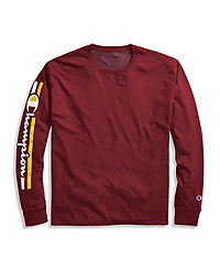 cafc07ab4cf2 Champion Men's Classic Jersey Long-Sleeve Tee, Vertical Logo