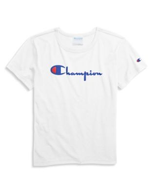 Champion Life® Women's Original Tee, Flocked Vintage Logo