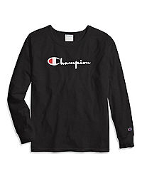 Champion Life® Women's Original Long-Sleeve Tee, Flocked Logo