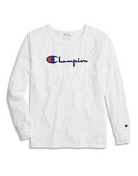 Champion Life® Women's Original Long-Sleeve Tee, Flocked Logo