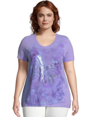 JMS Big Butterfly Impression Short Sleeve Graphic Tee
