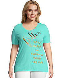 JMS Follow Heart & Dreams Short Sleeve Graphic Tee