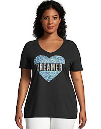 JMS Dreaming Heart Short Sleeve Graphic Tee