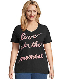 JMS Live In The Moment Short Sleeve Graphic Tee