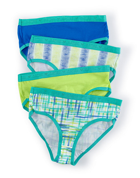 Hanes  X-Temp®  Girls' Brief 4-Pack