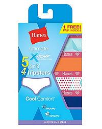 Hanes  X-Temp® Girls' Hipster 5-Pack (4 + 1 Free Bonus Pack)