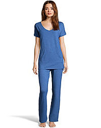 Hanes Women's French Terry Tunic & Pant Set