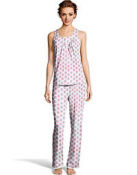 Hanes Women's V-Yoke & Pant Set