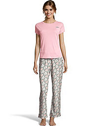 Hanes Women's ComfortSoft® Dolman Pocket Tee and Knit Pant Sleep Set