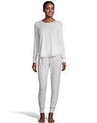 Hanes Women's Yummy Jersey PJ Set with Blanket