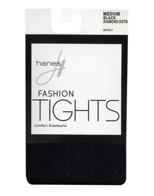 Hanes Diamond Dot Tights