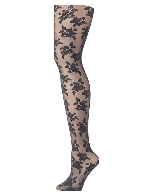 Hanes Floral Illusion Fashion Tights