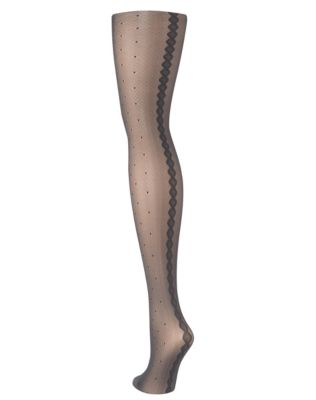 Hanes Dot with Backseam Fashion Tights