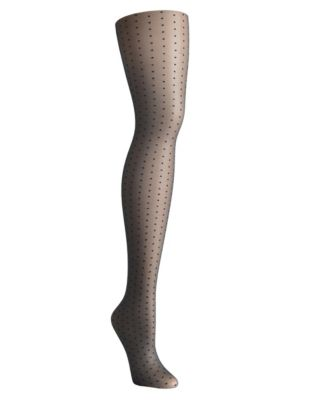 Hanes Sheer Dot Control Top Tights