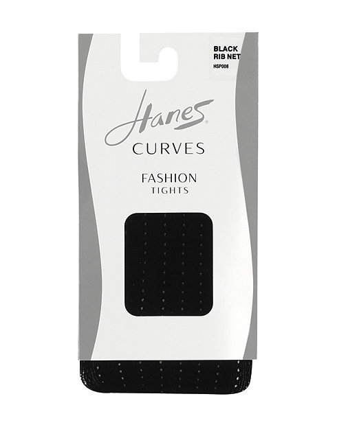 Hanes Curves Rib Net Tights