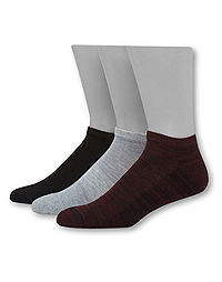 Hanes Men's 1901 Heritage Half Cushion Low Cut Socks 3-Pack