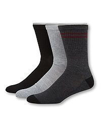 Hanes Men's 1901 Heritage Half Cushion Crew Socks 3-Pack