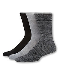 Hanes Men's 1901 Heritage Cushion Crew Socks 3-Pack
