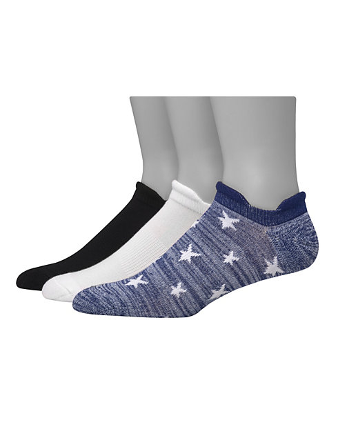 Hanes Men's 1901 Heritage Heel Shield Cushion No Show Socks 3-Pack