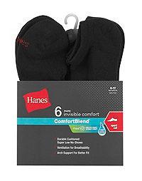 Hanes Men's FreshIQ™ ComfortBlend® Sport Cut Socks 6-Pack