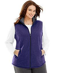 Just My Size Mock-Neck Women's Fleece Vest