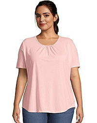 JMS Shirred Scoop-Neck Women's Jersey Tee