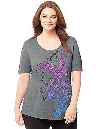 Just My Size Short-Sleeve Scoop-Neck Women's Graphic Tee
