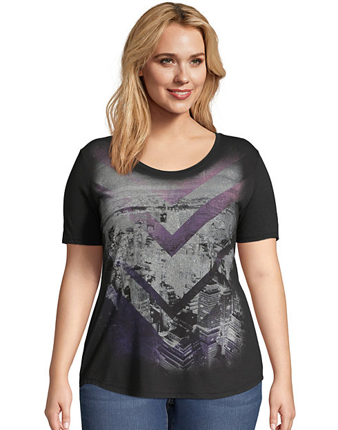 Just My Size Short-Sleeve Scoop-Neck Women's Graphic Tee