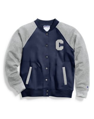 Champion Women's Heritage Fleece Bomber Jacket, Block C Logo