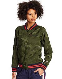 Champion Life® Women's Bomber Camo Jacket, Block Arch Logo