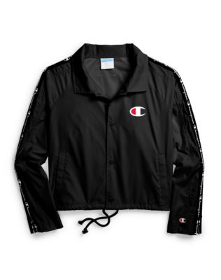 Champion Life® Women's Zipper Tape Cropped Coaches Jacket